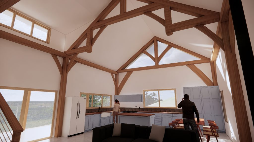 Small timber framed home